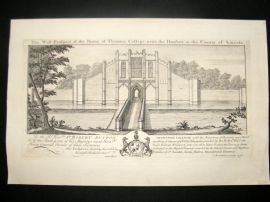 Buck 1726 Folio Architecture Print. Thornton College near the Humber, Lincoln